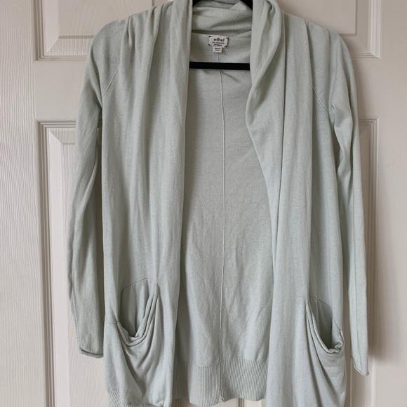 Green Wilfred Free Aritzia Cardigan silk cashmere